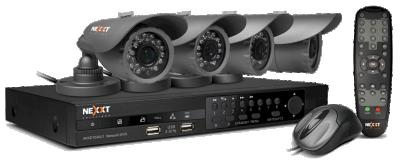 Nexxt Solutions - CCTV camera - DVR W/ 4 IP66 Cam Kt