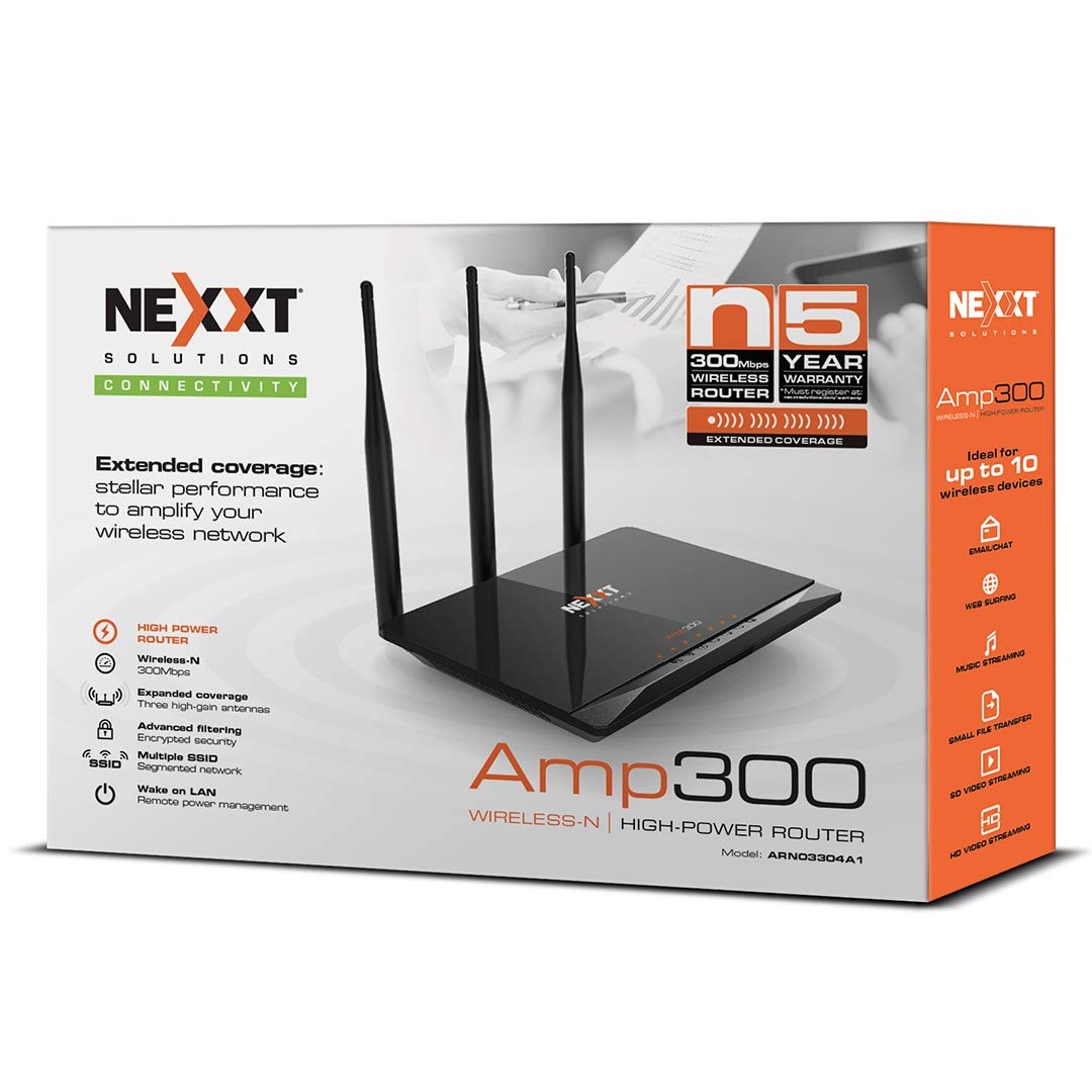 Nexxt Solutions Amp 300 Wireless Router