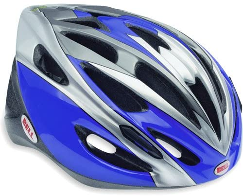 Bell Solar Compel Bike Helmet - Blue and Silver