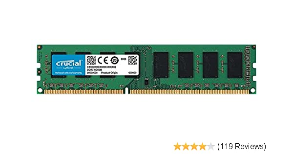 Crucial Laptop DDR3 RAM - 2GB