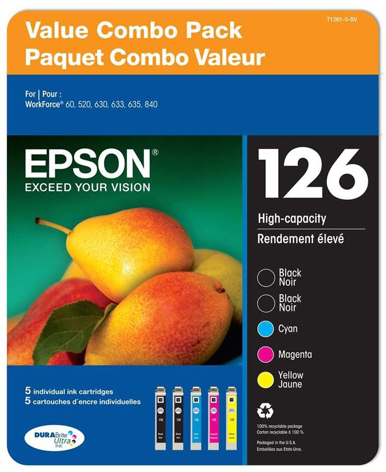 Epson T126 Series Ink - Multi Pack - 5 Inks