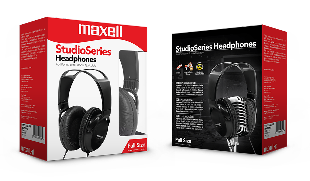 MAXELL STUDIO SERIES HEADPHONES