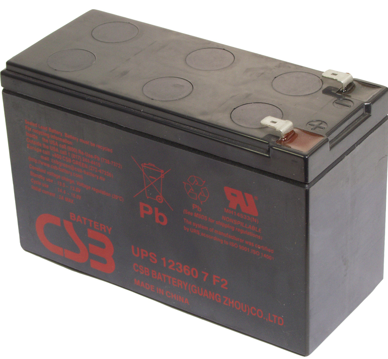 12360 7 F2 Replacement Battery CSB GP 12 7.2AH VRLA Battery